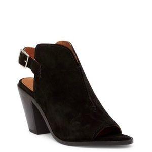 Frye sling back heel bootie sandal